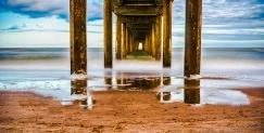 Under the jetty, Brighton Beach, Adelaide, South Australia.