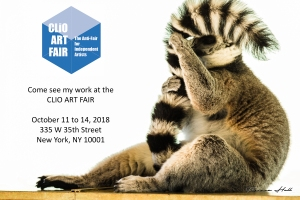 Clio Art Fair, the anti-fair for independent artists. Come see my work at the Clio Art Fair. 11 to 14 October 2018, 335 W 35th Street, New York, NY 10001.